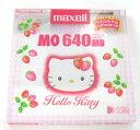 【生産終了品・在庫限り】マクセル 3.5型 MOディスク 640MB 1枚 アンフォーマット Hello KittyMA-M640KY 1P Maxell