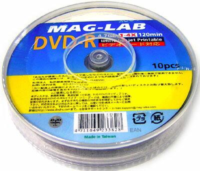 【返品交換不可】MAG-LAB データ・アナログ録画用 DVD-R 10枚 MG DVD-R120 4X PW10PS_Outlet