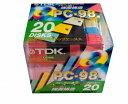 【アウトレット品】 【生産中止商品】TDK 3.5型 2HDカラーフロッピー PC-98用 5色x各4枚 Pケース入り MF2HD-PCX20PMS【メール便不可】
