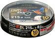 【日本製】TDK 録画用DVD-R DL(215分) デジタル放送録画対応(CPRM) ホワイトワイドプリンタブル 2-8倍速 10枚 スピンドルケース DR215DPWB10PS