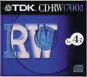 TDK データ用CD-RW 700MB 4倍速 1枚 10mm厚ケース CD-RW80S