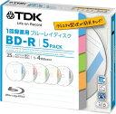 TDK 録画用ブルーレイディスク BD-R 1回録画用 25GB 1-4倍速 インデックス・ディスクシリーズ 5枚パック 5mmスリムケース BRV25TB5A
