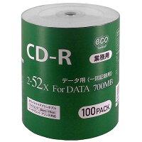 <新製品>【業務用パック】CD-RforDATA700MB1回記録データ用100枚シュリンクecoパック2-52倍速対応ホワイトワイドプリンタブルCR80GP100_BULK