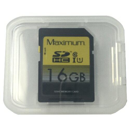 【バルク品】Maximum SDHCカード class10 16GB UHS-I対応 MLCチップ プラケース付 MXJSDHC10X16GB【メール便OK】