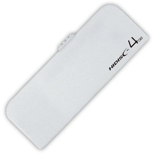 HIDISC USB2.0 フラッシュドライブ 4GB ホワイト スライド式 ストラップホール付 HDUF116S4G2 【メール便対象商品合計2個までOK】