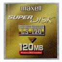 【生産終了品・在庫限り】 マクセル SuperDisk (スーパーディスク) 120MB ブラック 1枚 Windowsフォーマット済 LS-120.A.1P