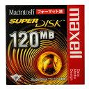 【生産終了品・在庫限り】】 マクセル SuperDisk (スーパーディスク) 120MB ブラック 1枚 Macintoshフォーマット済 SD120.MAC.B1P