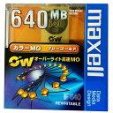 【カラーMOディスク】マクセル 日本製 3.5インチ MOディスク 高速 640MB 1枚 アンフォーマット オーバーライト対応 マリーゴールド MAXELL RO-M640(OR) B1P