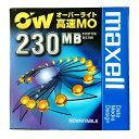 【生産終了品・在庫限り】マクセル 日本製 3.5インチ MOディスク 高速 230MB 1枚 アンフォーマット オーバーライト対応 MAXELL RO-M230..