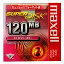 【激レア!】マクセル SuperDisk(スーパーディスク)ストロベリーカラー 1枚 MACフォーマット SD120.MAC.RE.B1P