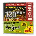 【激レア!】マクセル SuperDisk(スーパーディスク)2枚 MACフォーマット SD120.MAC.B1P+SOFT