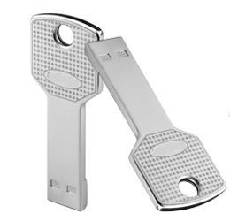 【訳アリ】【返品交換不可】 USB 2.0 フラッシュドライブ 8GB シルバー 鍵型USB【メール便対象商品合計2個までOK】