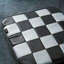 FIAT500/ABARTH(フィアット/アバルト)シングルシート【カーボン】(チェッカーカーボンブラック×カーボングレー)【CABANA】