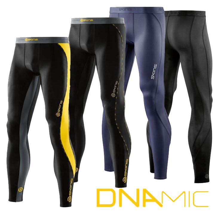 スキンズ ディーエヌエーミック skins DNAmic メンズ ロングタイツ Long Tights 【正規品】【2016 Newモデル】 コンプレッション インナー 【あす楽_年中無休】【メール便可】