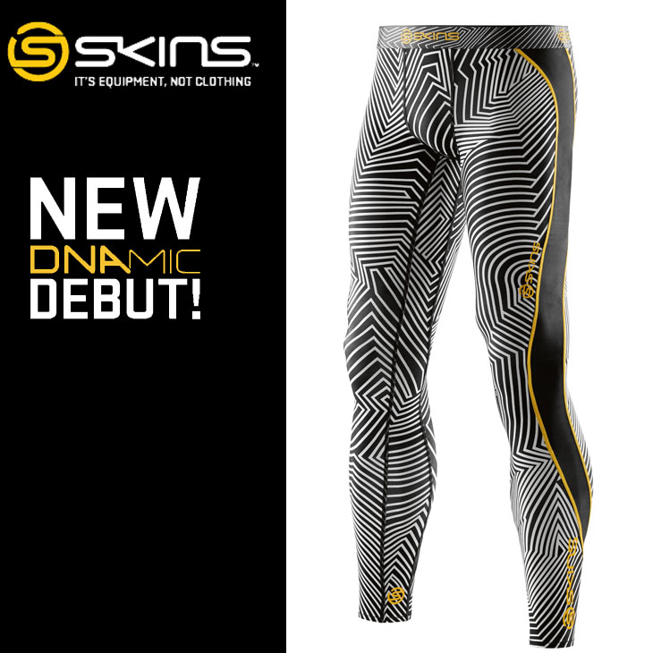 スキンズ ディーエヌエーミック skins DNAmic メンズ ロングタイツ Long Tights COLLABO【正規品】【2016 Newモデル】 コンプレッション インナー 【あす楽_年中無休】【メール便可】