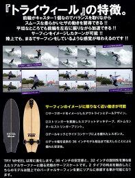 TRYWHEEL(トライウィール)サーフスケートスケボーコンプリート【FISH-35inch】【送料無料】正規品【smtb-TD】【saitama】