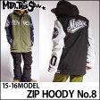 15-16 Mtn. Rock Star (マウンテン ロック スター ) 【ZIP HOODY No.8 】ジップフーディー (3-Layers )SNOW WEAR ウェアー ジャケット