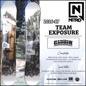 ◆16-17 NITRO 16-17モデル (ナイトロ ) nitro SNOWBOARD スノーボード 【TEAM EXPOSURE 】スノボー 板 予約販売品 11月入荷予定 【2016−17モデル】6nt01