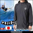 VOLCOM ボルコム メンズ サーフ ラッシュガード 水着 【VLCM Zip Hood 】JAPAN FIT 【あす楽_年中無休】【メール便不可】