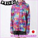 VOLCOM ボルコム レディース ジップ ラッシュガード 【VLCM Rashguard 】JAPAN COLLECTION 水着 ヴォルコム 【あす楽_年中無休】【メール便不可】