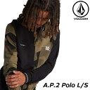 ショッピング秋冬 ボルコム VOLCOM メンズ 長袖 A.P.2 Polo L/S ポロシャツA0331950 【返品種別OUTLET】
