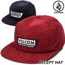 ショッピングvolcom ボルコム VOLCOM キャップ メンズ DECEPT HAT D5512010 【返品種別OUTLET】