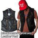 volcom ボルコム レザーベスト メンズ 【blackmeans xVolcom LeatherVest 】 アウター トップス VOLCOM 【メール便不可】【返品種別】