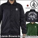 volcom ボルコム コーチ ジャケット メンズ 【Jamie Browne Ins Coach Jacket 】 アウター トップス JapanLimited【メール便不可】