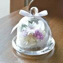 本州送料無料 プリザーブドフラワー お供えガラスドーム 白菊 仏花 お悔やみ お彼岸 仏壇