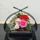和風プリザーブドフラワー 華蓮(かれん) フラワーギフト 花ギフト 誕生日 プレゼント 還暦 お祝い 敬老の日ギフト 年賀 贈り物