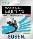 ★ゴーセン・テックガットシリーズ1.30★TECGUT MULTI CX/テックガット・マルチCX【GOSEN硬式テニスガット単張】TS660-NA