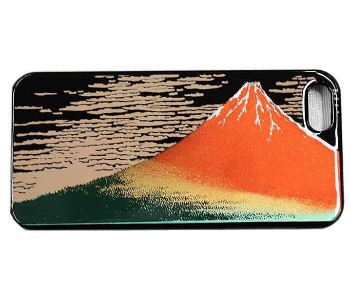 iphone5カバー 高盛り蒔絵 赤富士