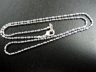 j186 ネックレス 俵型ボール 幅1.5mm 長約40cm 1本 (アクセサリー ネックレスチェーン)
