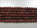 天然石4mm a0408 ガーネット 約38-40cm(石・天然石・パワーストーン)