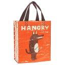 楽天ラッピング ランドセル のフロロ雑貨 アメリカBlueQ社のリサイクルバッグシリーズ お弁当入やギフトバッグにも「ハンディトート HANGRY」BL-QA343《2018sono》| 輸入 おしゃれ かわいい