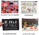 楽天ラッピング ランドセル のフロロ雑貨 アメリカBlueQ社のリサイクルバッグシリーズ 小物の収納に「ジッパーポーチ Bold Italic」BL-QA248《2018sono》  輸入 おしゃれ かわいい プレゼント