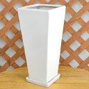 ロングスクエア陶器鉢S ホワイト 7号サイズ