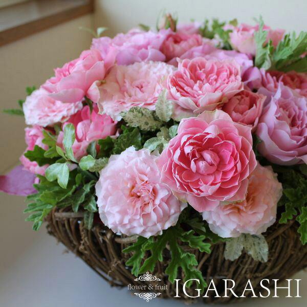 【 ピンクバラのアレンジ 】  花 誕生日  アレンジメント ギフト フラワー お祝い 開店祝い 花 バラ ピンク 送料無料 【楽ギフ_メッセ入力】