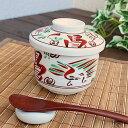 赤絵茶碗蒸し【和食器・強化磁器・アウトレット込み・多治見美濃焼・日本製】