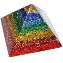 ボヘミアンオルゴナイト チャクラピラミッドオブジェ 《オルゴナイト》 18×13cm ヒーリングアイテムとして人気急上昇!チェコの人気アーティストがパワーストー...