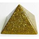ボヘミアンオルゴナイト チャクラピラミッドオブジェ(ゴールド) 《オルゴナイト》 10×6.5cm 空間がパワースポットになるオルゴナイト スピリチュアルの国チェコの正規輸入品 [ヒーリングアイテム/パワーストーン/天然石/癒やしグッズ/ピラミッド]