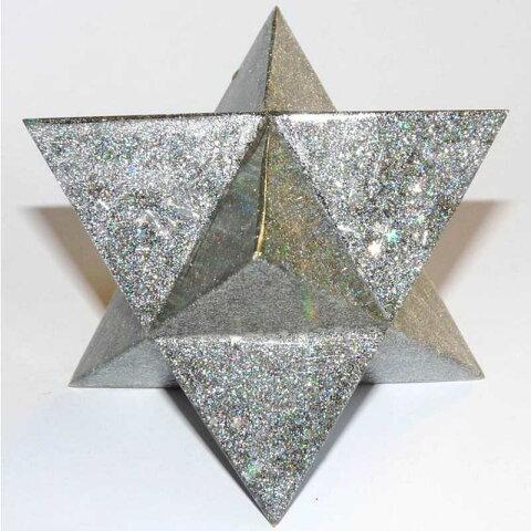 ボヘミアンオルゴナイト マカバ(シルバー) 《オルゴナイト》 9cm 空間がパワースポットになるオルゴナイト スピリチュアルの国チェコの認定ボヘミアンオルゴナイト[オルゴナイト/ボヘミアンオルゴナイト/電磁波/パワーストーン/天然石/オルゴナイト/正規輸入品]