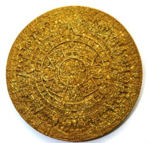 ボヘミアンオルゴナイト マヤのカレンダー(ゴールド) 《オルゴナイト》 23cm 空間がパワースポットになるオルゴナイト スピリチュアルの国チェコの正規輸入品 [ヒーリングアイテム/パワーストーン/天然石/癒やしグッズ/ピラミッド]