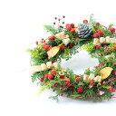クリスマスフレッシュリース素材すべてが生!温かな質感と針葉樹の癒しの香りがクリスマスを贅沢に演出♪