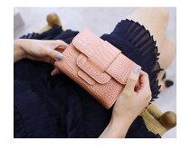 ミニ財布レディース可愛いさいふ短財布無地三つ折り財布大人