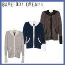 【あす楽】送料無料 ベアフットドリームス [555]Women's パーカー barefoot dreams Long Zipped Hoodie マイクロファイバー カシウェ..