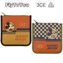 ショッピング韓国コスメ スタイルナンダ 3CE ミッキーマウス コラボ FW スクエア ポーチ 2色 イエロー ベージュ