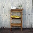 ≪リサイクルウッド・電話台≫木製シェルフ 木製 木製電話台 FAX台 飾り棚 花台 無垢 天然木 アンティーク風