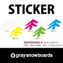 graysnowboards グレイスノーボード ステッカー DESPERADO Sサイズ 100×140mm カッティングタイプ  P16Sep15