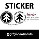 graysnowboards グレイスノーボード ステッカー 2個セット スクリーン印刷 ロゴ GRAY 200×280mm  P16Sep15